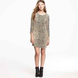 J. Crew Jules Dress Wildcat Leopard Print Size 4